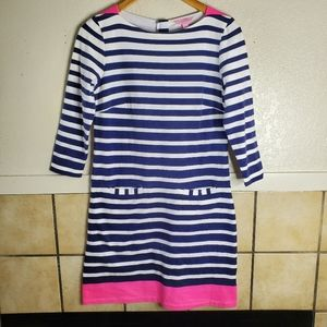 Lilly Pulizer Irina 3/4-sleeve Striped Dress S